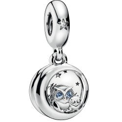 Always By Your Side Owl Silver Hanging Charm