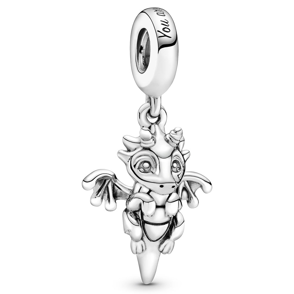 You Are Magic Dragon Silver Hanging Charm