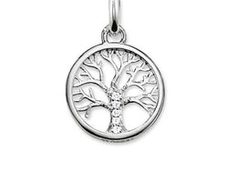 Tree Of Life White Cz Karma Pendant