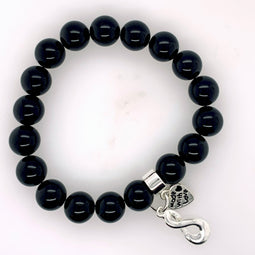 Onyx Stretchy Bracelet 10Mm Beads.