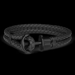 Ph Phrep, Leather, Black Anchor, Black Bracelet, L Size