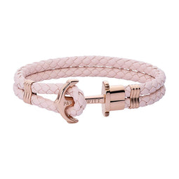 Paul Hewitt Rose Gold Anchor & Pink Rose Bracelet