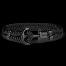 Phrep, Nylon, Black Anchor, Black Bracelet