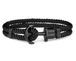 Ph Phrep, Nylon, Black Anchor, Black Bracelet, Xxl Size