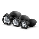 Bling Plugs Training 3pc Set - Discreet Playground