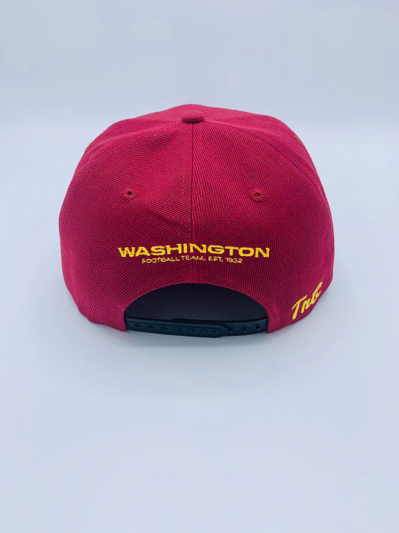 "Tribe Burgundy ""Washington Football Team"" Snap back Crown. Homage to DC, Bens Chili Bowl, Super Bowl XXII"