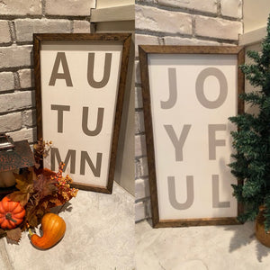Handcrafted Holiday Reversible Sign