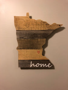 Handcrafted Minnesota Sign