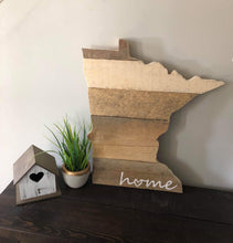 Load image into Gallery viewer, Handcrafted Minnesota Sign