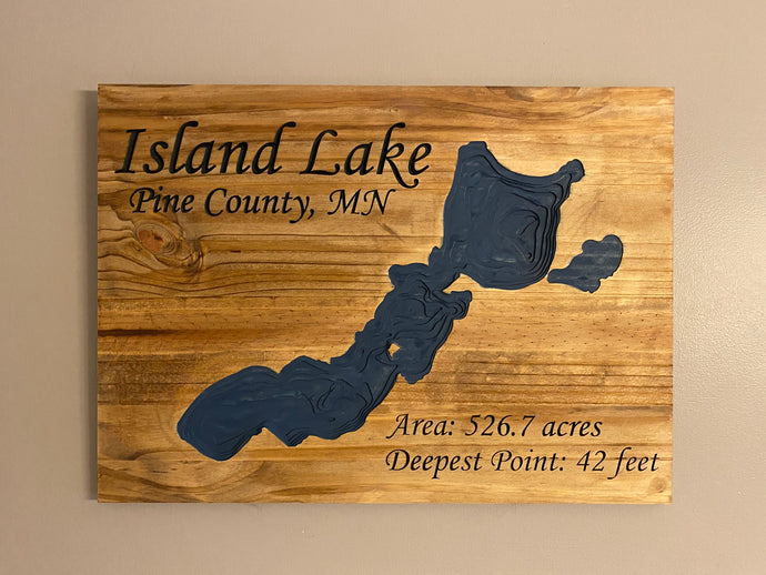 Topographic Lake Signs