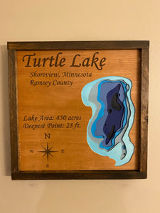 Layered Lake Sign