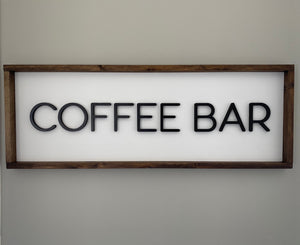 Coffee Bar Sign