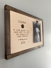 Load image into Gallery viewer, Personalized Pet Memorial Frame