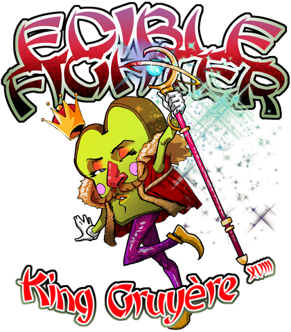 Edible Fighter - King Gruyère XVIII Racerback Tank Top