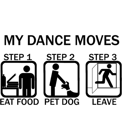 Dance Moves Tank Top - Black