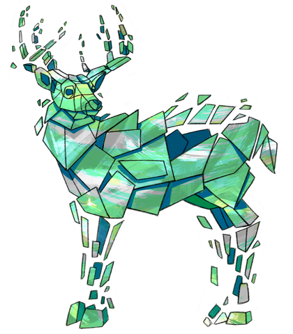 Green Deer Tank Top