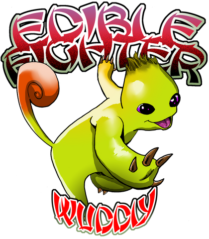 Edible Fighter - Wuddly Women's V-Neck