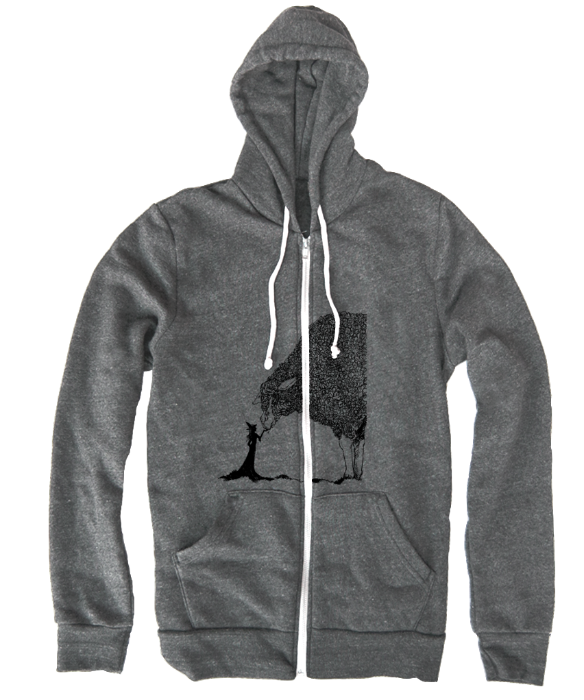 Sheep & The Witch Hoodie - Black