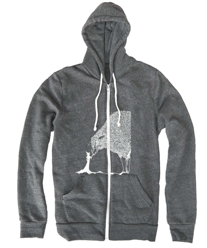 Sheep & The Witch Hoodie - White