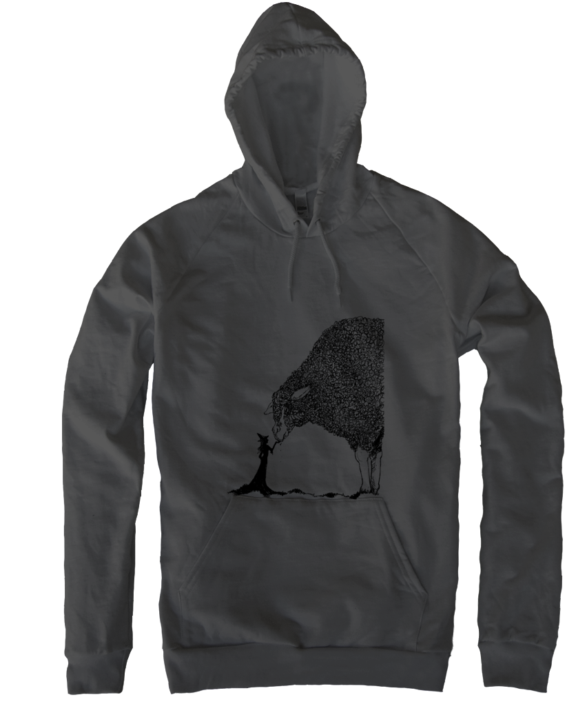 Sheep & The Witch Pullover - Black
