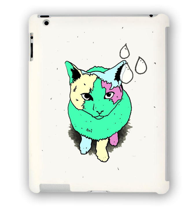 Drip Cat iPad Case