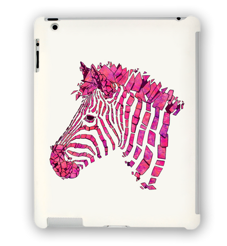 Pink Zebra iPad Case