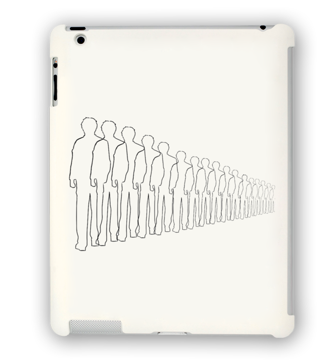 Vanishing People iPad Case