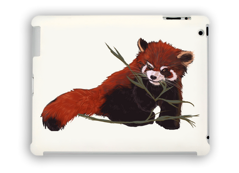 Red Panda Love iPad Case