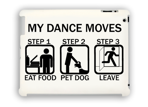 Dance Moves iPad Case White