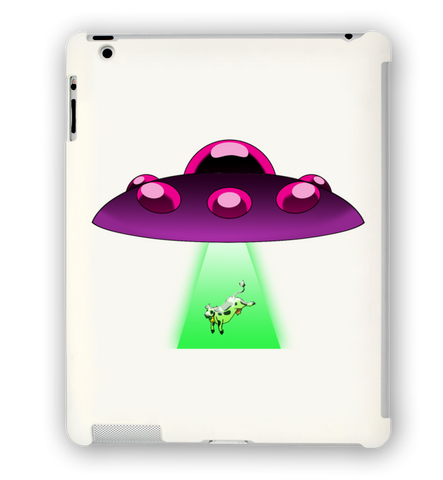 Cow Abduction iPad Case