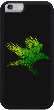 Green Crow iPhone Case