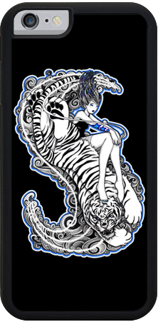 Tiger Girrrrl iPhone Case - Black