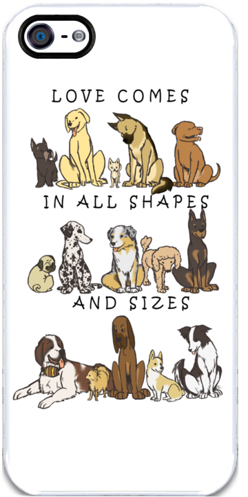 Dogs - Shapes and Sizes iPhone Case