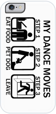 Dance Moves iPhone Case White