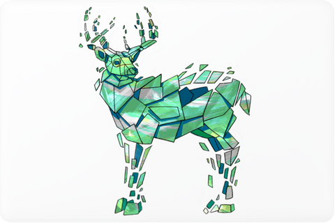 Green Deer Laptop Skin