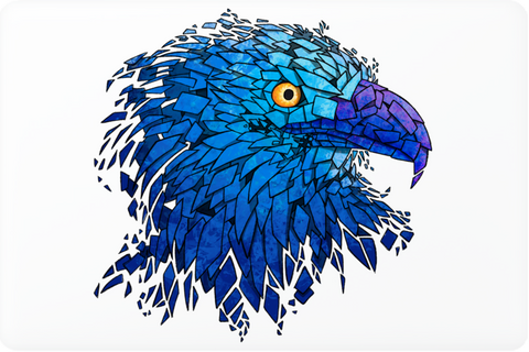 Blue Eagle Laptop Skin