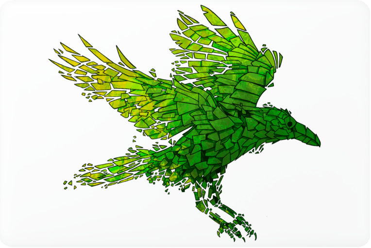 Green Crow Laptop Skin