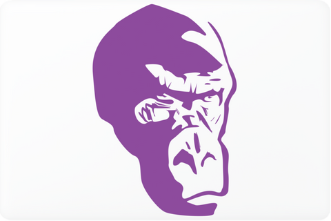 Purple Gorilla Laptop Skin