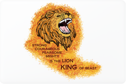 King Lion Laptop Skin