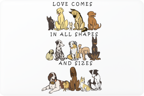 Dogs - Shapes and Sizes Laptop Skin