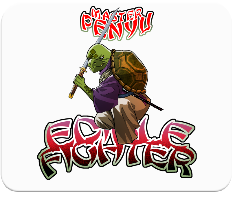 Edible Fighter - Master Penyu Mousepad