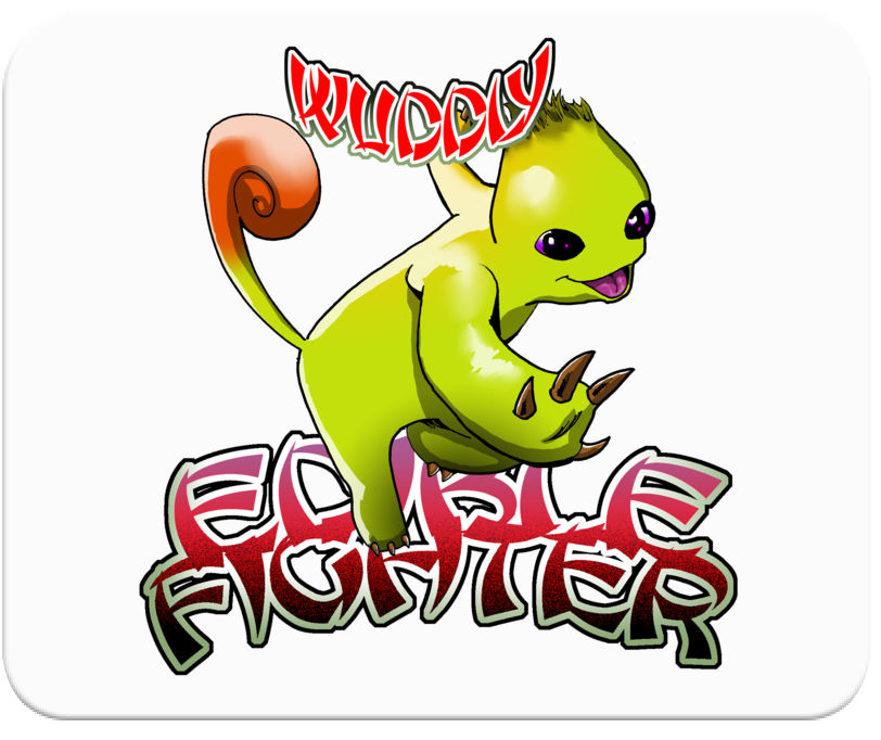 Edible Fighter - Wuddly Mousepad