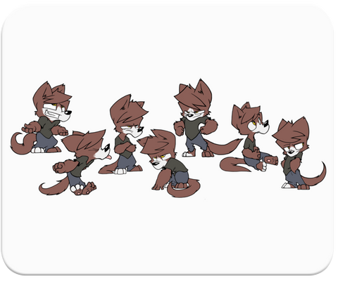 Wolfy Model Sheet Mousepad