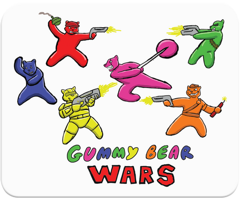 Gummy Bear Wars Mousepad