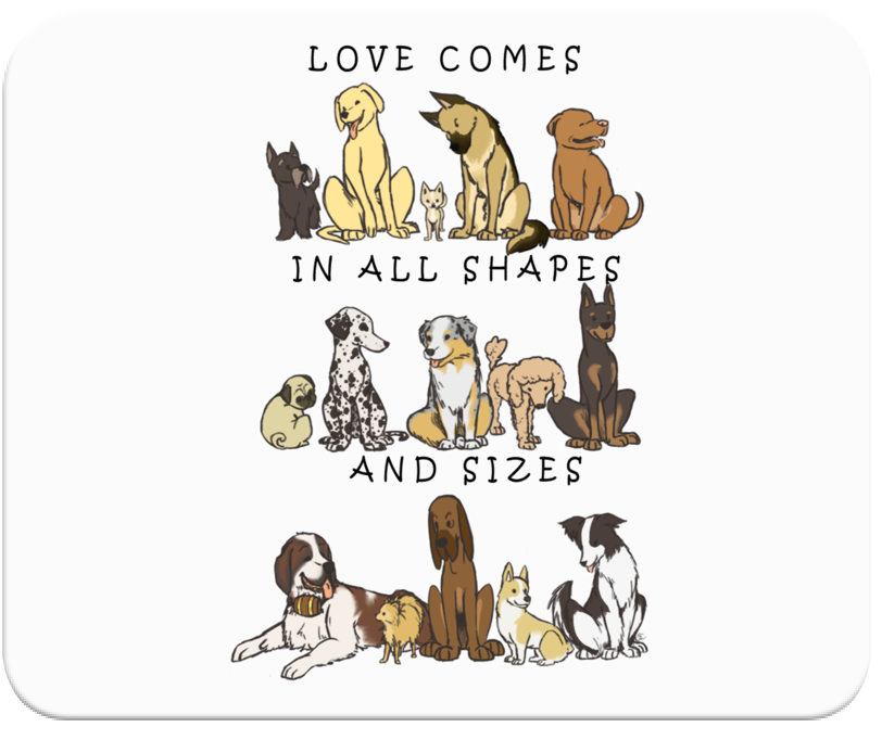 Dogs - Shapes and Sizes Mousepad