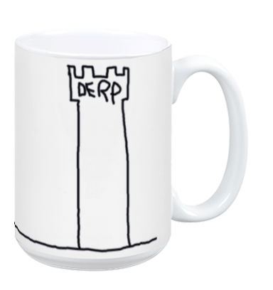 The Derp Tower Mug - White