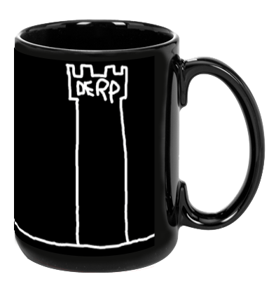 The Derp Tower Mug - Black