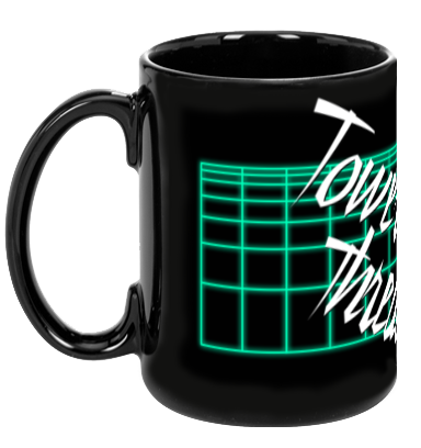 Tower Threads Neon Grid Mug