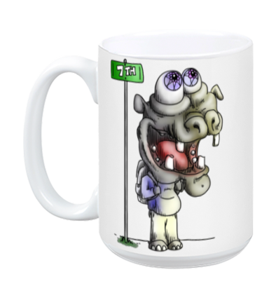 Hippo Does New York Mug