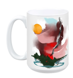 Forest Fire Mug - White